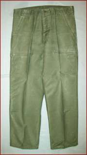 GREAT 1970s OLD VTG VIETNAM WAR ERA US ARMY FATIGUE MILITARY PANTS