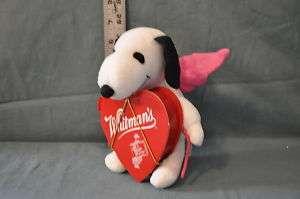 SNOOPY DOG COMIC STRIP SCHULZ/PEANUTS PLUSH FIGURE VALENTINES CUPID