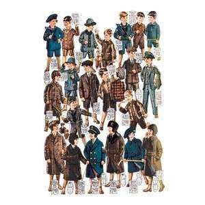 Vintage Art Little Boys Modeling Garments   03260 x