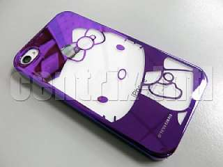 Hello Kitty Purple Chrome Hard Plastic Case for iPhone 4 & 4S