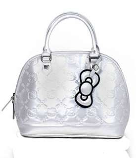 Loungefly HELLO KITTY BLACK PATENT EMBOSSED TOTE BAG