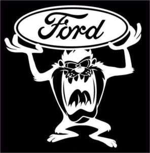 TAZ with FORD Logo Vinyl Decal w/LOW SHIPPING