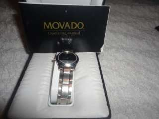 Womens Museum 1881 Silver Black Swiss Watch w/ Box and Papers