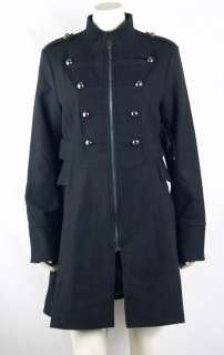 Steve Madden NEW Misses Size L/Large Black Peacoat/Military/Trench