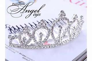 Shiny Bridal New Tiara Wedding Rhinestone Crown Comb Hair Clip Girl