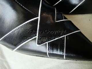 Jimmy Choo Black Kid Leather Knee High Boots 35.5 NIB
