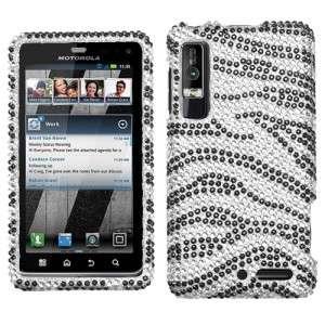 Zebra Crystal Bling Case Phone Cover Motorola Droid 3