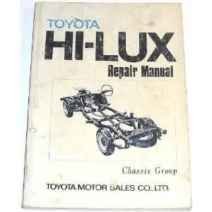 Toyota Hi Lux Repair Manual: Chassis Group: Toyota Export