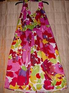 Blu Sage NWT garden party? multi color halter sun dress 24W plus woman