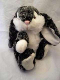 Kids of America Plush Black White Rabbit Bunny Easter