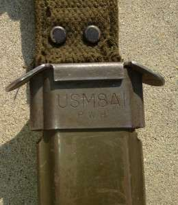 M7 BOC BAYONET KNIFE W/ M8A1 PWH VIZ SCABBARD GENUINE VIETNAM ERA