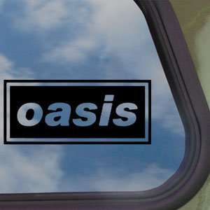 Oasis Black Decal English Rock Band Truck Window Sticker