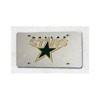 DALLAS STARS (SILVER) LASER CUT AUTO TAG *SALE*