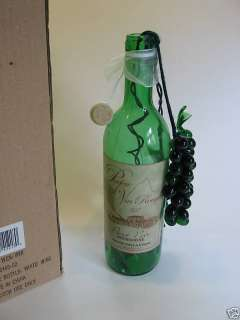 Pinot Noir Bourgogne Lighted Wine Bottle Glass Grapes