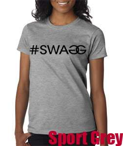 New #SWAGG Ladies T Shirt #SWAG Jersey Shore DJ Pauly D T Shirt #SWAGG