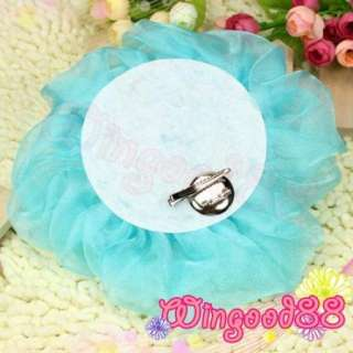 Women Cocktail Wedding Party Bridal Chiffon Rose Fascinator Hair Clip