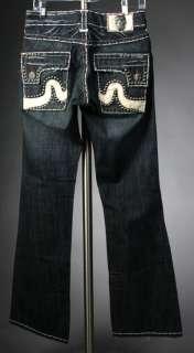 Laguna Beach Jeans Mens SUNSET BEACH White stitch 1G STUDS *SAMPLE