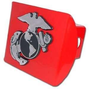 United States US Marine Corps USMC Red with Chrome EGA