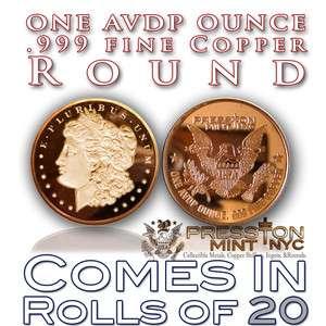 COINS 2012 MORGAN HEAD EAGLE COIN .999 COPPER ROUNDS BULLION OZ/LB