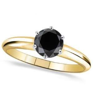 3 ctw 14k Solid TT 6 Prong AA Quality Black Diamond