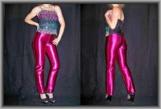 Vtg SPANDEX disco PANTS Liz Clairborne SHINY Rocker