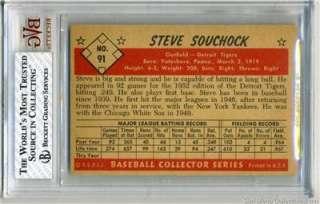 1953 Bowman Color #91 Steve Souchock BVG 7 NM Detroit Tigers