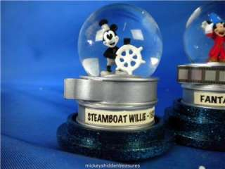 NEW WALT DISNEY WORLD MICKEY MOUSE NOSTALGIC MINI GLOBE SET ALL IN ONE