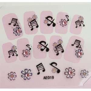 YiMei Hot selling Stereoscopic 3D diamond studded nail sticker nail