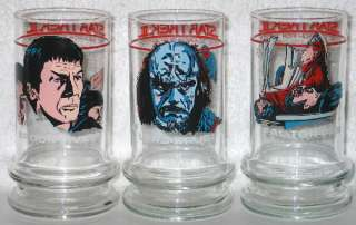 Star Trek Search For Spock Movie Taco Bell 3 Glass Set