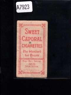 1909 11 T206 WHITE BORDER SWEET CAPORAL CRAVATH A7923