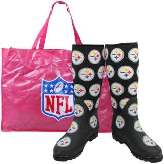 Pittsburgh Steelers Ladies Black Enthusiast Boots 670541153949