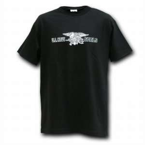 Navy Seal, Black Military T shirts, Mens Tees SIZE MEDIUM