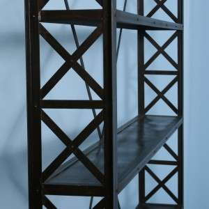 Black Industrial Metal Bookcase Decor Perfect for modern space