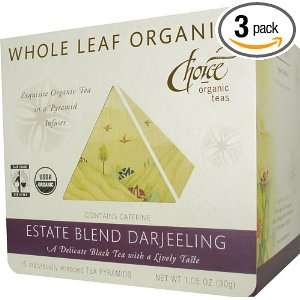 Choice Organic Whole Leaf Organics Estate Blend Darjeeling Tea