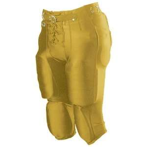 Alleson Youth Nylon/Spandex Football Pants VG   VEGAS GOLD