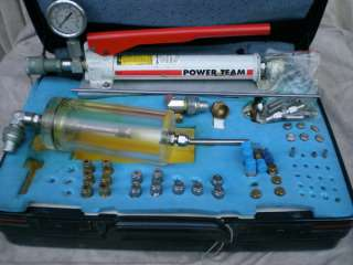 Power Team Hydraulic P12 hand pump & accessories