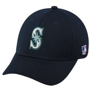 MLB BAMBOO Flex FITTED Lg/XL Seattle MARINERS Home NAVY