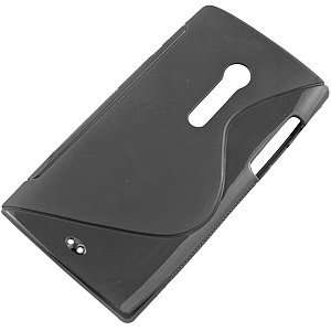 Skin Cover for Sony Ericsson Xperia Ion, S Shape Black Electronics