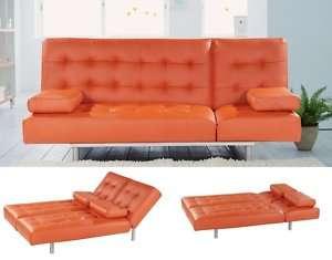 Trio PVC Orange Sleeper / Sofa Bed