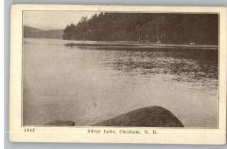 Old Postcard Silver Lake Scene Chesham,New Hampshire/NH