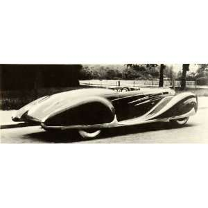 Type 165 Car Futuristic Automotive Design   Original Halftone Print