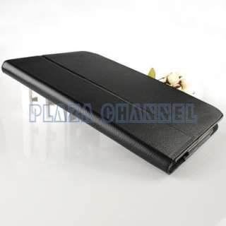 Black Leather Folio Smart Case Cover Stand For Lenovo IdeaPad Tablet