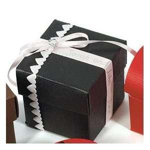 Wedding Gift Box Amazon : Black Favor Boxes Seta Nero Wedding Square Box with
