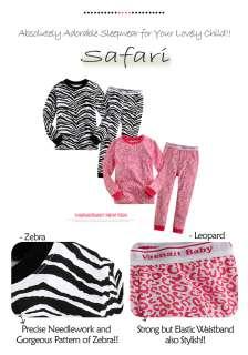 NWT Baby & Toddler Boy Girl Sleepwear Pajama Set  Safari