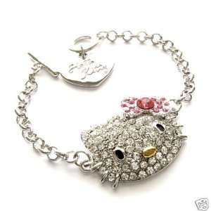 HELLO KITTY AUSTRIAN CRYSTAL CHARM TOGGLE BRACELET 7