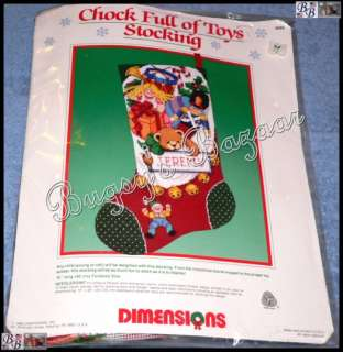 Dimensions CHOCK FULL OF TOYS STOCKING Needlepoint Christmas Kit