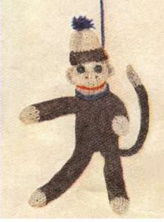 Swinging Monkey Stuffed Toy Knitting Pattern Vintage