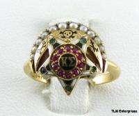 KAPPA SIGMA   fraternity 14K 10K GOLD SKULL Badge RING