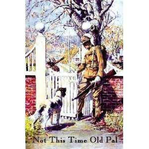 Springfield Doughboy Dog Old poster with dog saying farewell: LR Books