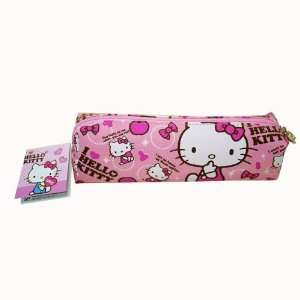 Sanrio 8in Pink Vinyl Hello Kitty Pencil Pouch Toys & Games
